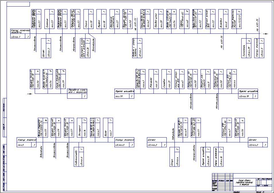 Схема сборки передачи конечной и тормоза.