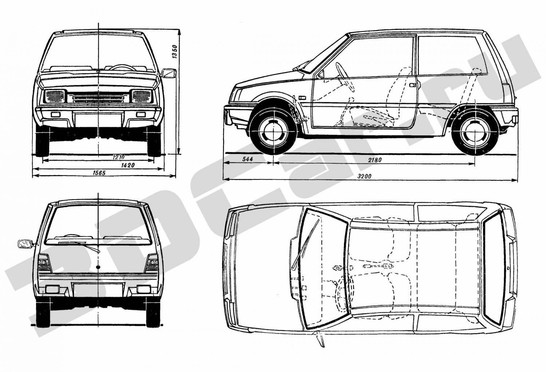 чертеж ВАЗ 2111