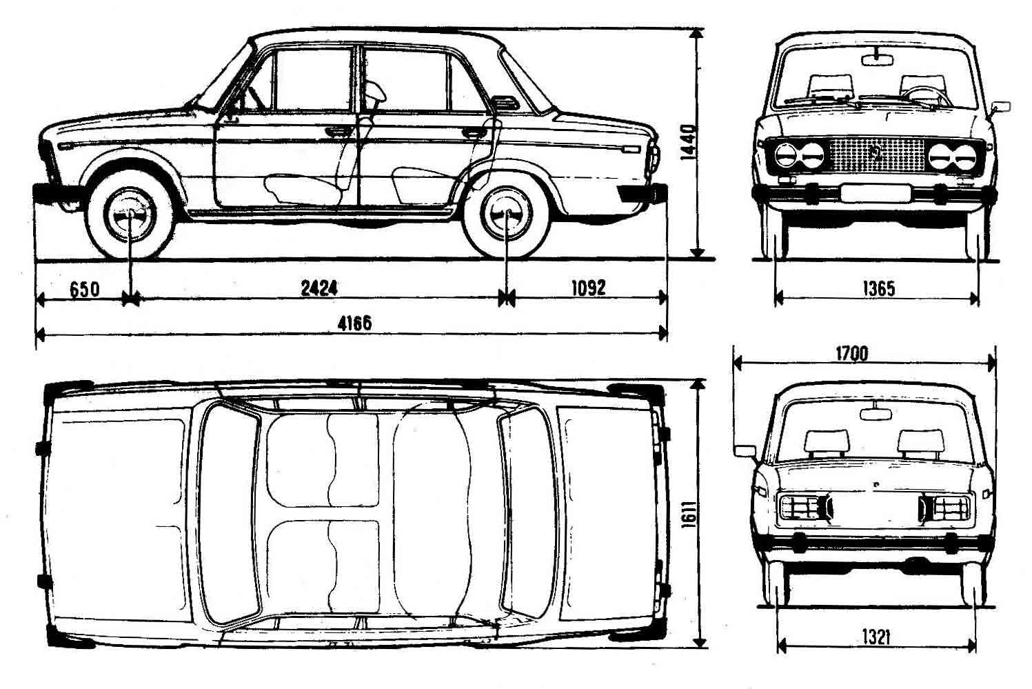 чертеж ВАЗ 2106
