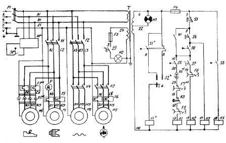 принципиальная электрическая схема токарно винторезного станка 1к62