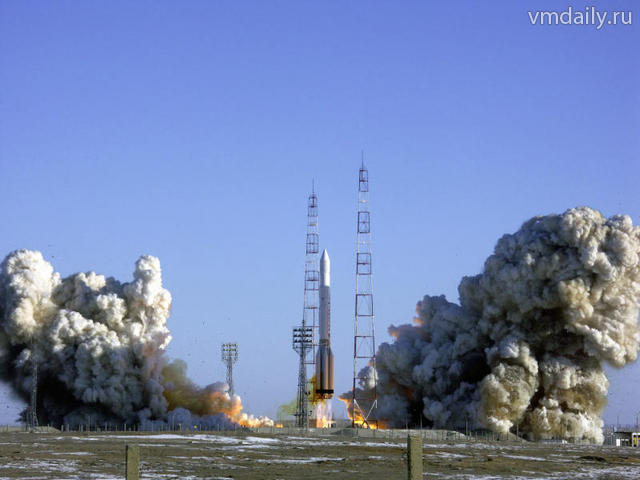 Запуск ракеты-носителя Протон-М. SES-6