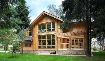 Деревянные дома из Финляндии из клееного бруса: применение оттенков в интерьере