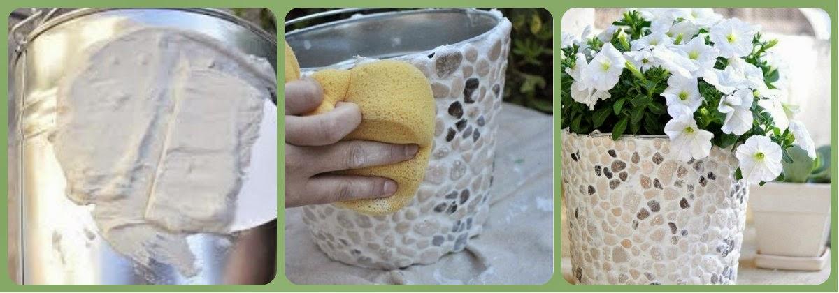 Как из ведра сделать горшок для цветов своими руками