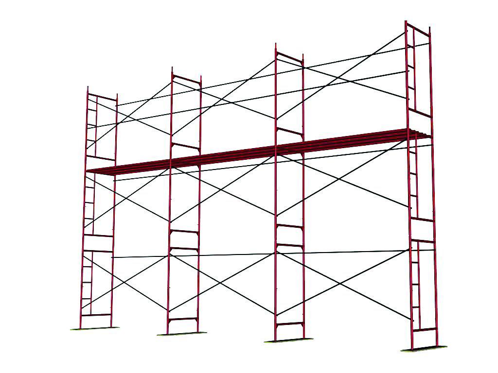 конфигурация рамных строительных лесов лрсп 30