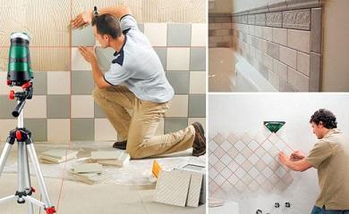 Способы укладки плитки в ванной комнате