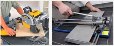 Электрические и механические плиткорезы
