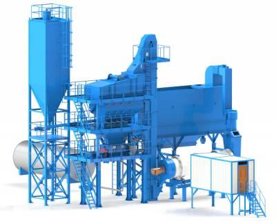 асфальтобетонный завод по доступной цене. Модель ДС-185-80