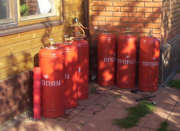 Газовые баллоны для отопления